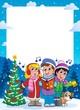 Christmas theme frame 9