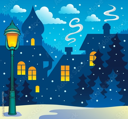Winter town theme image 3