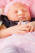 Newborn Baby Girl Sleeping