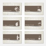Set of 6 business cards. For cafe and restaurant_ II