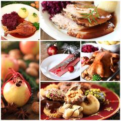 Collage weihnachtliches Essen