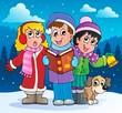 Christmas carol singers theme 2