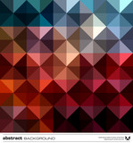 Fototapety Abstract colorful triangles background. Vector.