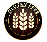 Beautiful Gluten free food packaging sign