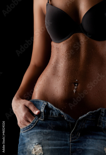 slim woman body