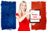 Fototapety Parlez-vous français? french learning concept