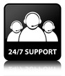 24/7 SUPPORT (customer care team) Black Square Button