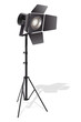 vector illustration of studio light with stand
