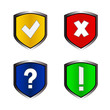 Shield vector icons