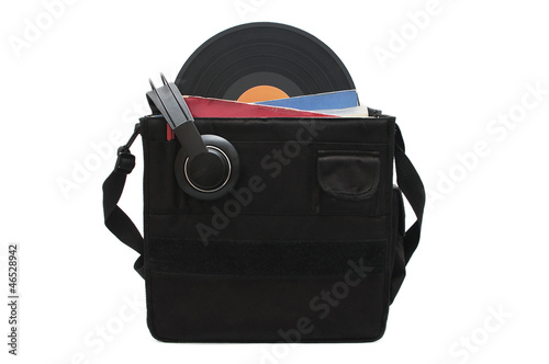 Discjokey suitcase to carry vinyl records
