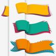 colorful banner set