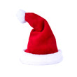 Nikolausmütze frontal auf weiß