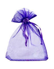 Blue empty gift pouch