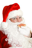 Santa Claus Eating Christmas Cookie