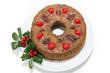 Christmas Fruitcake on White