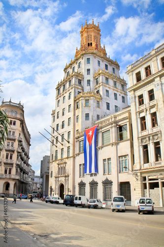 Etecsa building in Historic center of Havana.