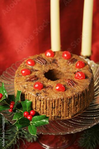 Christmas Fruitcake Still Life