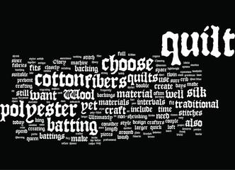 Choosing Batting Quilt Fibers for Craft