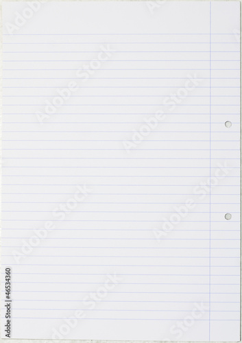Notebook paper - Editable vector background
