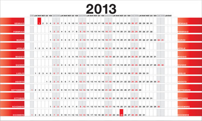 Planner 2013 red - IT