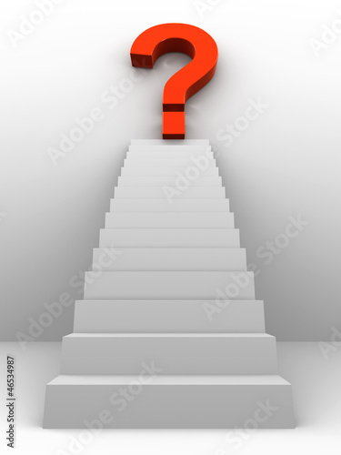 3d Stairway with unknown reward at the top