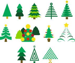 Set of fir trees