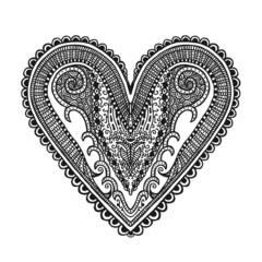 Hand drawn heart, illustration design element