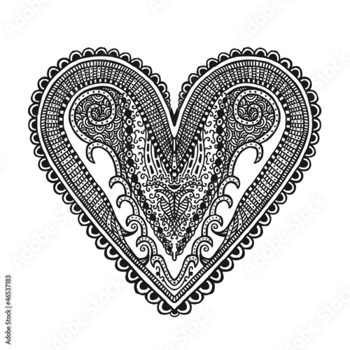 Hand drawn heart, illustration design element