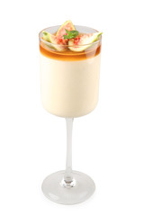 honey mousse with figs and marsala winewith clipping path