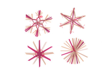 Straw Christmas Tree Decoration