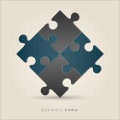 Logo puzzle concept