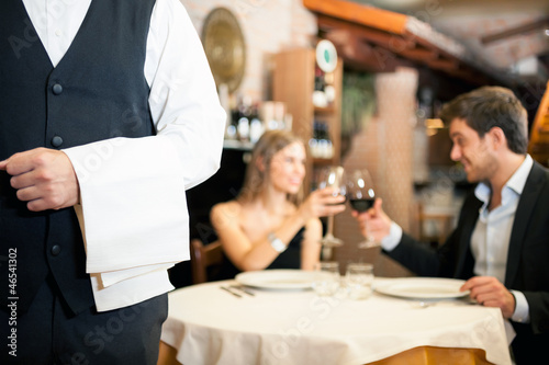 Dinner in a luxury restaurant