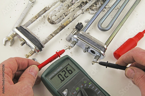 continuity testing heating element