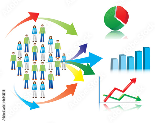 Illustration of market research and statistics