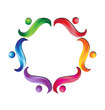 Swirly teamwork logo vector