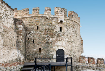 Old byzantine castle at Thessaloniki city in Greece