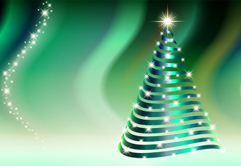 New Year background with christmas tree