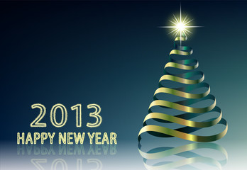 New Year background with tree