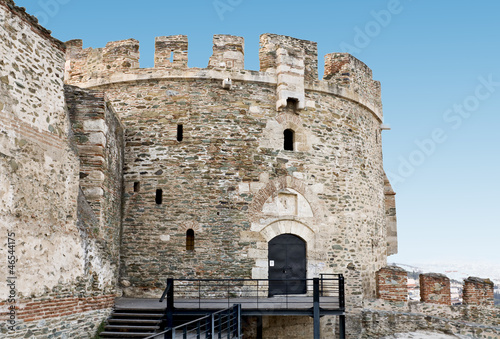 Old byzantine castle at Thessaloniki city in Greece