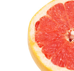 Grapefruit on a white background