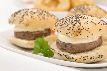 Mini Cheeseburgers with Aberdeen Angus beef patties