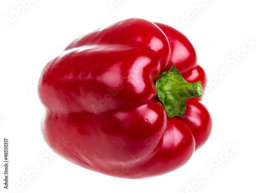 Bright red pepper isolated on white