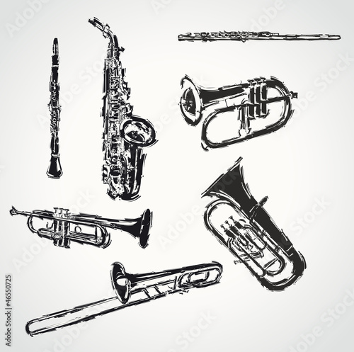 brushed instruments drawn