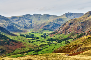 Langdale, with Bowfell and Crinkle Crags