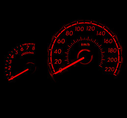 Racing style car speed meter