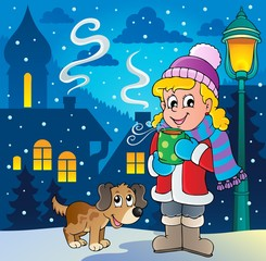 Winter person cartoon image 2