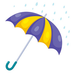illustration of umbrella and rain