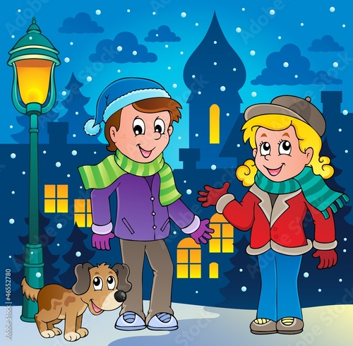 Winter person cartoon image 3