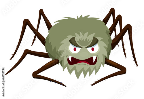 illustration of Cartoon Spider on white