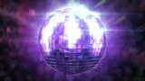 Beautiful Disco Ball Spinning seamless with flares. HD 1080.